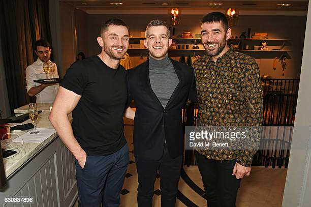 Brad Wrightson Russell Tovey and Robert Diament attend the live reading event hosted by Burberry with Pin Drop at Thomas's Burberry's allday British...