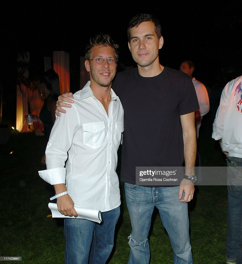 Brad Zeifman and Scott Sartiano during Fight For Children San Tropez Soiree In The Hamptons September 3 2005 at Private Residence in Watermill New...