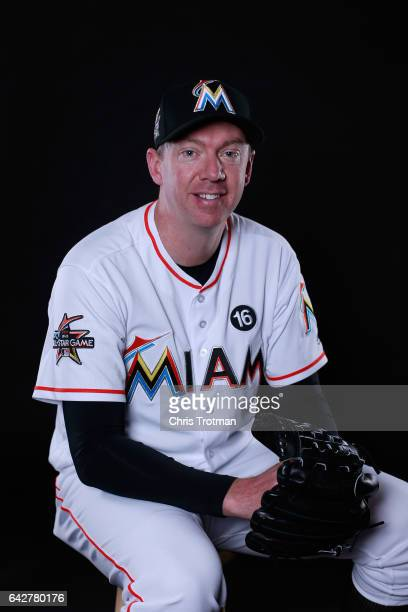 Brad Ziegler of the Miami Marlins poses for a photograph at Spring Training photo day at Roger Dean Stadium on February 18 2017 in Jupiter Florida