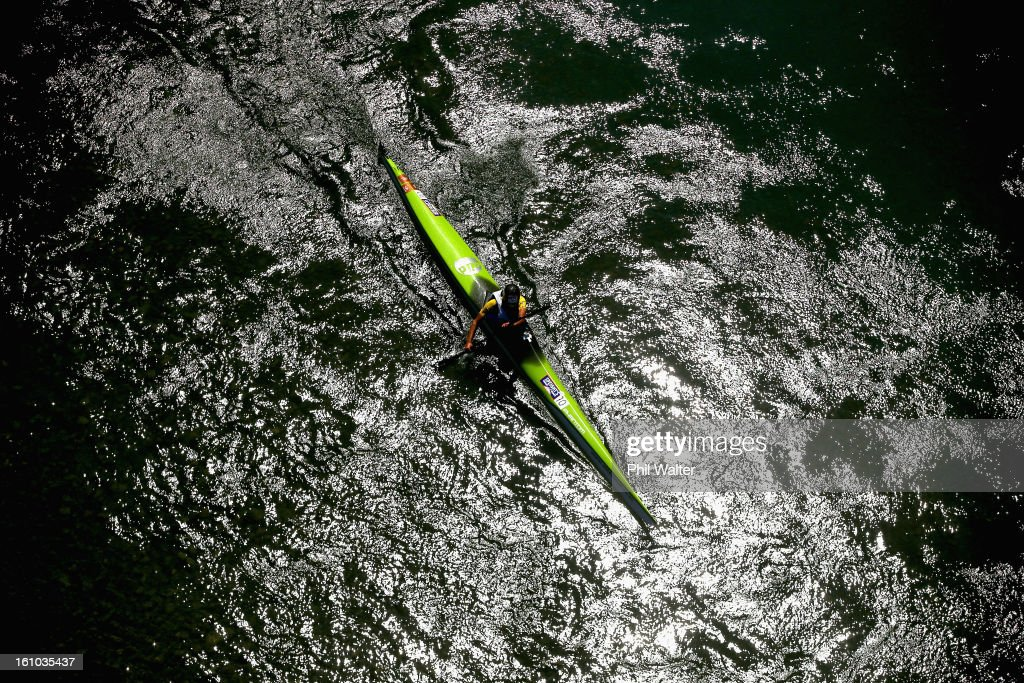 Braden Currie of New Zealand competes in the one day individual event during the 2013 Speights Coast to Coast on February 9, 2013 in Christchurch, New Zealand.