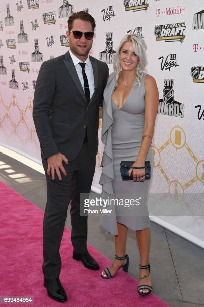 Branden Holtby of the Washington Capitals and guest attend the 2017 NHL Awards at TMobile Arena on June 21 2017 in Las Vegas Nevada