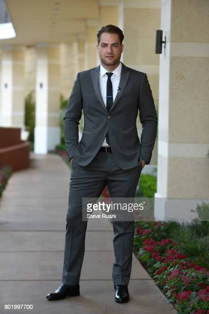Braden Holtby of the Washington Capitals arrives for the 2017 NHL Awards at TMobile Arena on June 21 2017 in Las Vegas Nevada