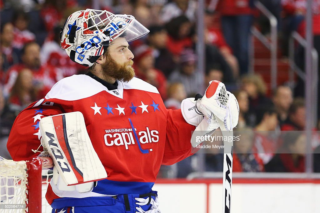<a gi-track='captionPersonalityLinkClicked' href=/galleries/search?phrase=Braden+Holtby&family=editorial&specificpeople=5370964 ng-click='$event.stopPropagation()'>Braden Holtby</a> #70 of the Washington Capitals looks on during the first period against the Montreal Canadiens at Verizon Center on December 26, 2015 in Washington, DC.