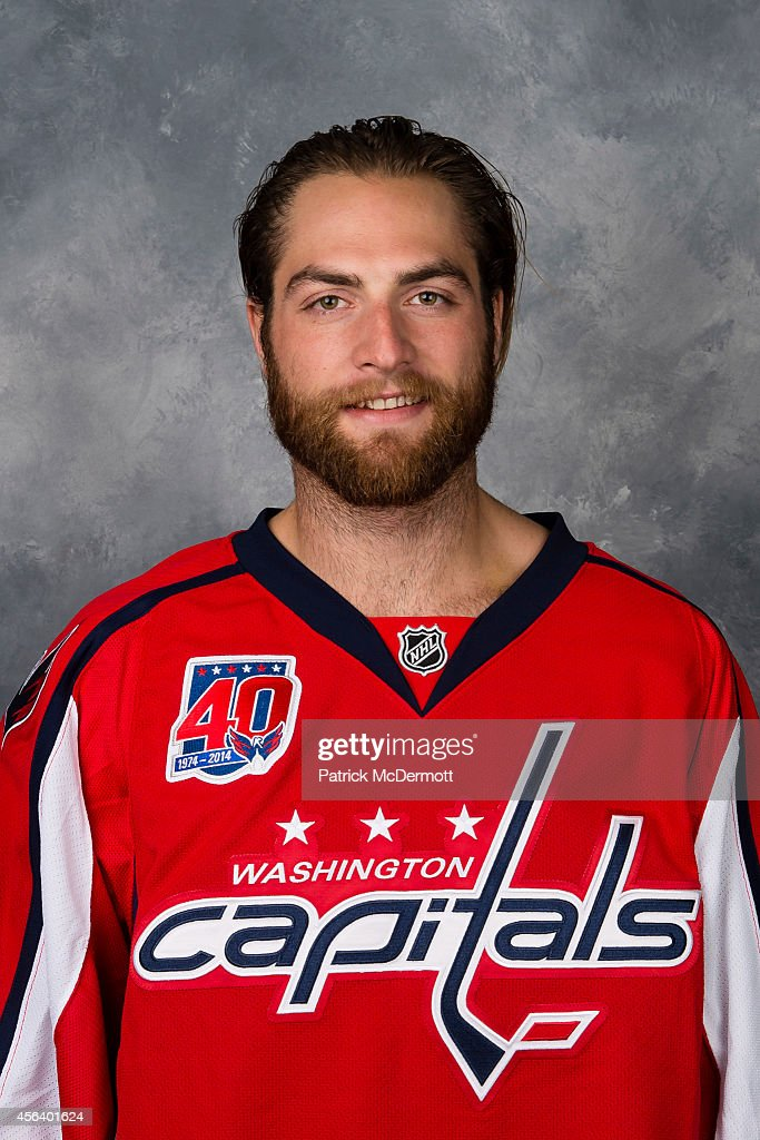 <a gi-track='captionPersonalityLinkClicked' href=/galleries/search?phrase=Braden+Holtby&family=editorial&specificpeople=5370964 ng-click='$event.stopPropagation()'>Braden Holtby</a> of the Washington Capitals poses for his official headshot for the 2014-2015 season on September 18, 2014 at the Kettler Capitals Iceplex in Arlington, Virginia.