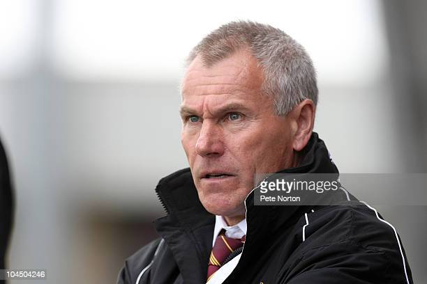 Bradford City manager Peter Taylor looks on during the npower League Two match between Northampton Town and Bradford City at Sixfields Stadium on...