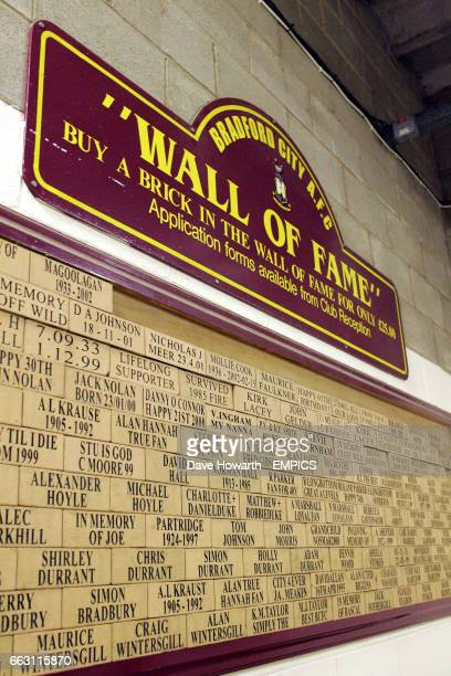 Bradford City wall of fame
