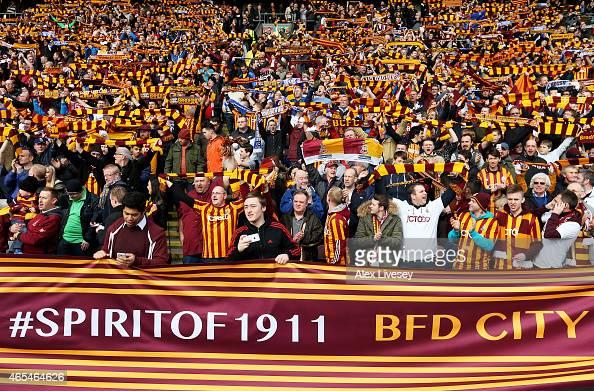 Bradford City v Reading - FA Cup Quarter Final : News Photo