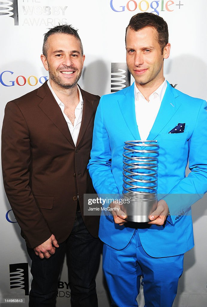Bradford Shellhammer and Jason Goldberg of Fab Dot Com accept award the 16th Annual Webby Awards on May 21, 2012 in New York City.