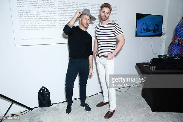 Bradford Shellhammer and Michael Ellison at 'A Queen Within Adorned Archetypes' Hosted by Stacy Engman Presented by Barrett Barrera Projects at...