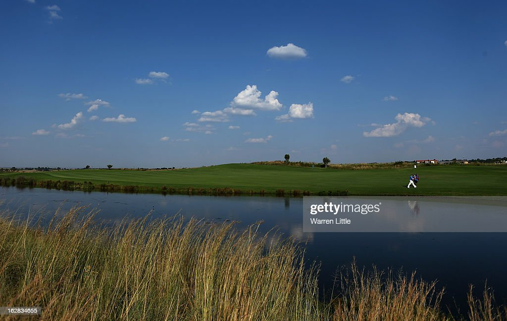 Bradford Vaughan of South Africa walks down the 13th hole during the first round of the Tshwane Open at Copperleaf Golf & Country Estate on February 28, 2013 in Centurion, South Africa.