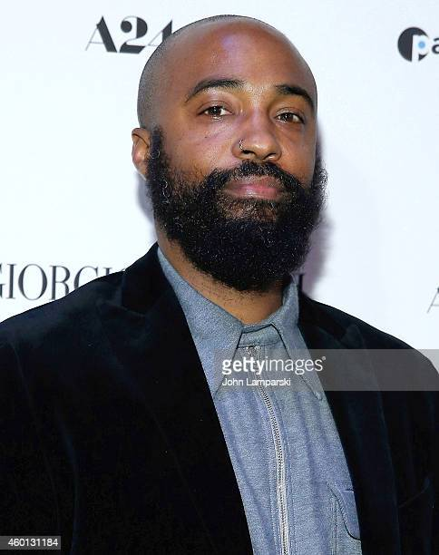 Bradford Young attends 'A Most Violent Year' New York Premiere at Florence Gould Hall on December 7 2014 in New York City