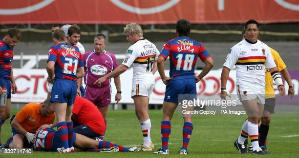 Bradford's Joe Vagana leaves the field after being sent off during their engage Super League match at Odsal Stadium Bradford