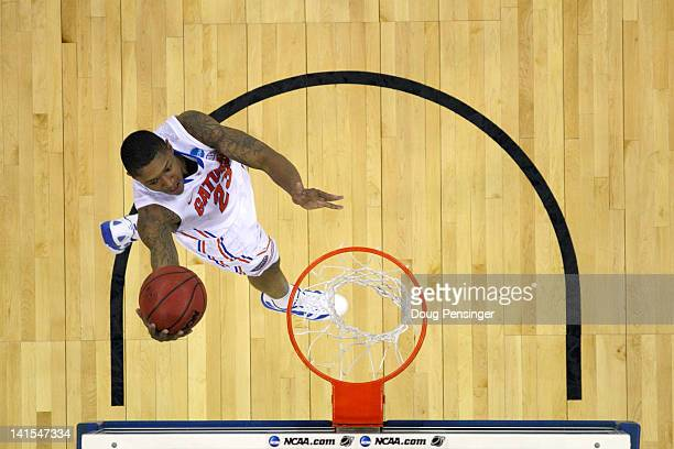Bradley Beal of the Florida Gators drives for a shot attempt in the first half against the Norfolk State Spartans during the third round of the 2012...