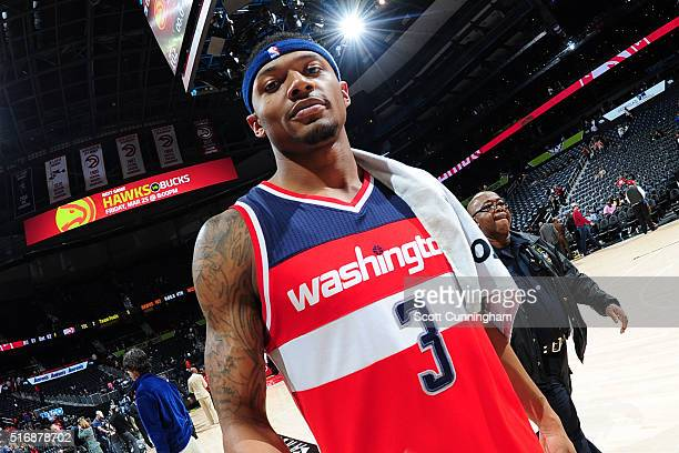 Bradley Beal of the Washington Wizards after the win against the Atlanta Hawks on March 21 2016 at Philips Arena in Atlanta Georgia NOTE TO USER User...