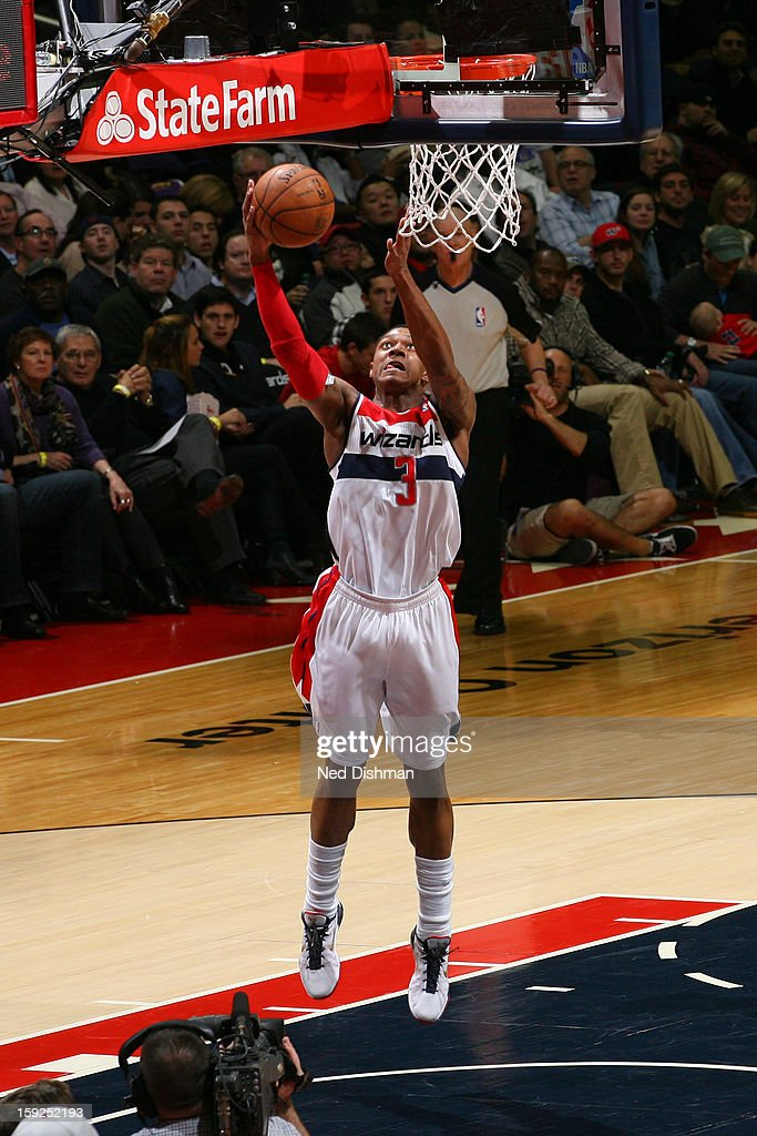 Bradley Beal #3 of the Washington Wizards drives to the basket against the Brooklyn Nets on January 4, 2013 at the Verizon Center in Washington, DC.