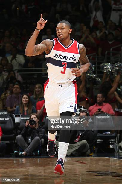 Bradley Beal of the Washington Wizards during the game against the Atlanta Hawks in Game Six of the Eastern Conference Semifinals of the 2015 NBA...