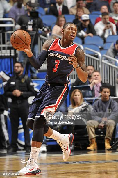 Bradley Beal of the Washington Wizards handles the ball against the Orlando Magic during the game on December 10 2014 at Amway Center in Orlando...