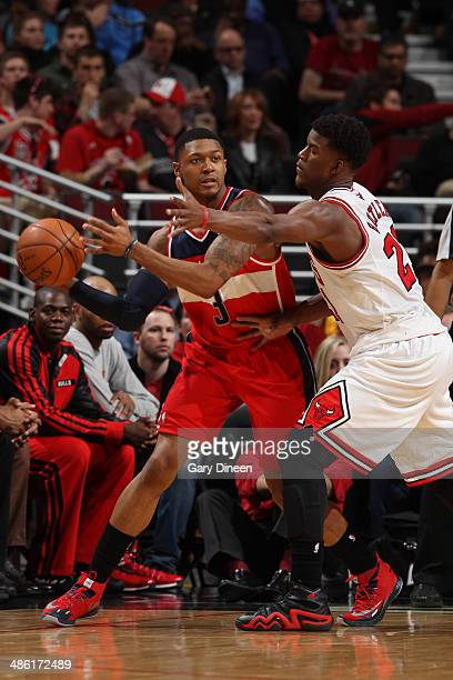 Bradley Beal of the Washington Wizards handles the ball against the Chicago Bulls in Game 2 of the Eastern Conference Quarterfinals on April 22 2014...