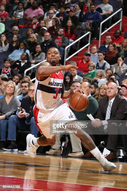 Bradley Beal of the Washington Wizards handles the ball against the Chicago Bulls on March 17 2017 at Verizon Center in Washington DC NOTE TO USER...