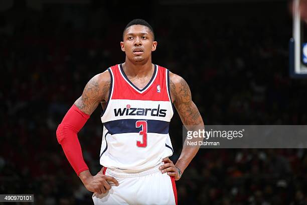 Bradley Beal of the Washington Wizards looks on against the Indiana Pacers in Game Six of the Eastern Conference SemiFinals during the 2014 NBA...