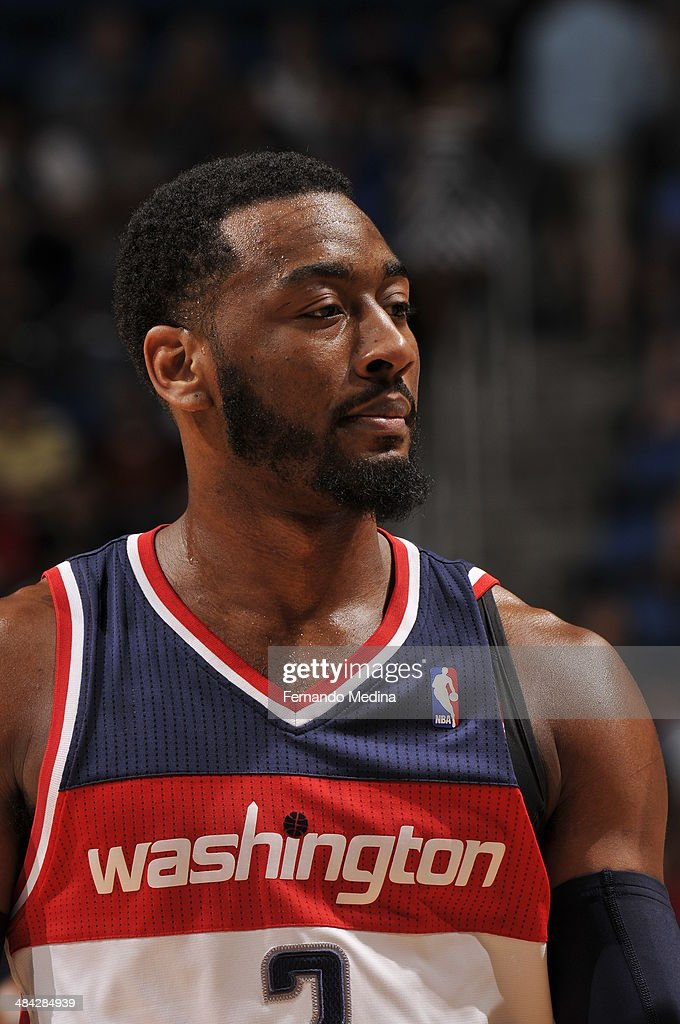 <a gi-track='captionPersonalityLinkClicked' href=/galleries/search?phrase=Bradley+Beal&family=editorial&specificpeople=7640439 ng-click='$event.stopPropagation()'>Bradley Beal</a> #3 of the Washington Wizards looks on against the Orlando Magic during the game on April 11, 2014 at Amway Center in Orlando, Florida.