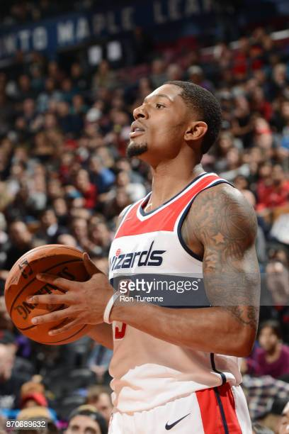 Bradley Beal of the Washington Wizards looks on during the game against the Toronto Raptors on November 5 2017 at the Air Canada Centre in Toronto...