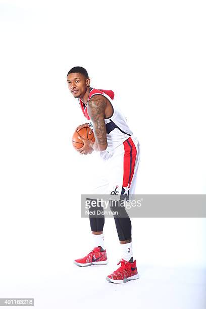 Bradley Beal of the Washington Wizards poses for a photo during media day on September 28 2015 at the Verizon Center in Washington DC NOTE TO USER...