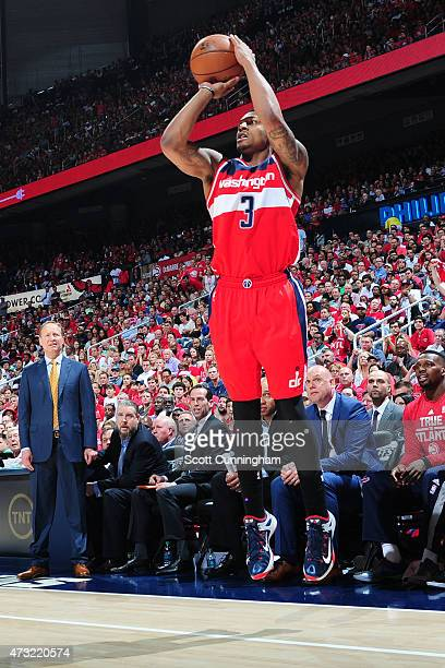 Bradley Beal of the Washington Wizards shoots against the Atlanta Hawks in Game Five of the Eastern Conference Semifinals during the 2015 NBA...