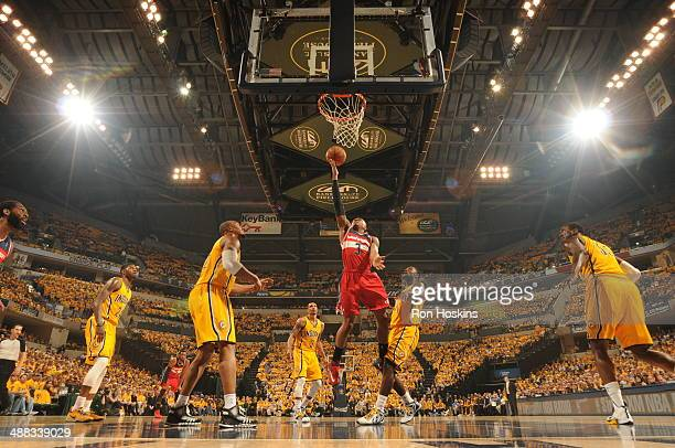 Bradley Beal of the Washington Wizards shoots against the Indiana Pacers in Game One of the Eastern Conference SemiFinals during the 2014 NBA...