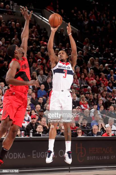 Bradley Beal of the Washington Wizards shoots the ball against the Portland Trail Blazers on December 5 2017 at the Moda Center in Portland Oregon...