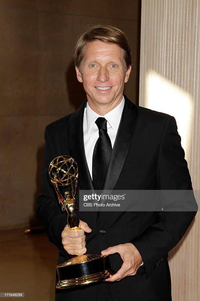 Bradley Bell, executive producer of The Bold and the Beautiful, celebrates the win for Outstanding Writing in a Drama Series during the 2013 CBS Daytime Emmy After-Party at theTHE 40TH ANNUAL DAYTIME ENTERTAINMENT EMMY AWARDS at THE BEVERLY HILTON in Los Angeles.