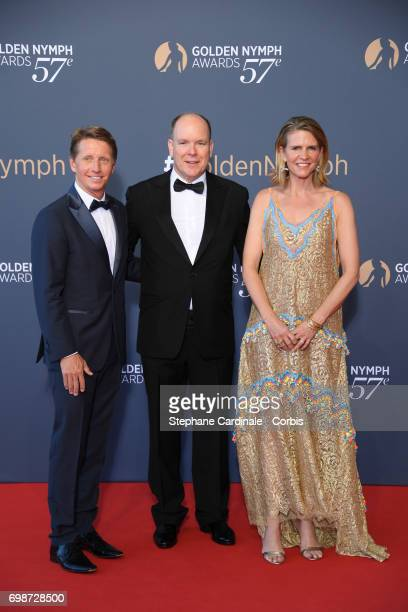 Bradley Bell Prince Albert II of Monaco and Colleen Bell attend the closing ceremony of the 57th Monte Carlo TV Festival on June 20 2017 in...