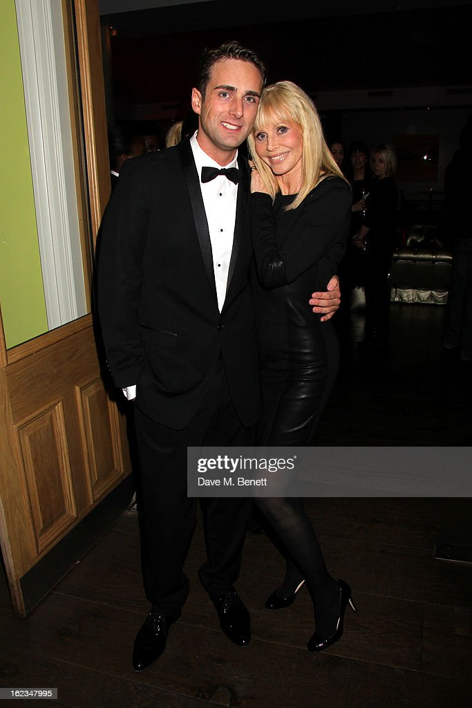 Bradley Clarkson and Britt Ekland attend 'The Tailor-Made Man' press night after party at the Haymarket Hotel on January 21, 2013 in London, England.