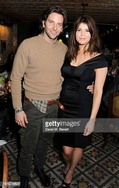 Bradley Cooper and Gemma Arterton attend the 'Silver Linings Playbook' Grey Goose Dinner hosted by Harvey Weinstein and Stephen Fry at Little House...