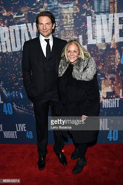 Bradley Cooper and Gloria Campano attend SNL 40th Anniversary Celebration at Rockefeller Plaza on February 15 2015 in New York City