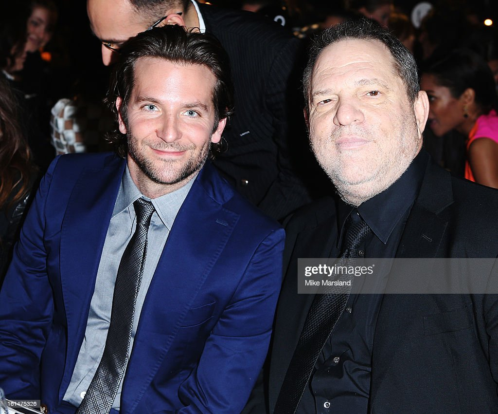 Bradley Cooper and Harvey Weinstein attend the Elle Style Awards at The Savoy Hotel on February 11, 2013 in London, England.