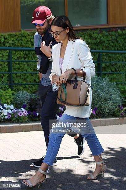 Bradley Cooper and Irina Shayk seen arriving at Wimbledon on July 6 2016 in London England