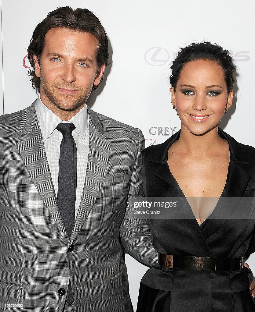 <a gi-track='captionPersonalityLinkClicked' href=/galleries/search?phrase=Bradley+Cooper&family=editorial&specificpeople=680224 ng-click='$event.stopPropagation()'>Bradley Cooper</a> and <a gi-track='captionPersonalityLinkClicked' href=/galleries/search?phrase=Jennifer+Lawrence&family=editorial&specificpeople=1596040 ng-click='$event.stopPropagation()'>Jennifer Lawrence</a> arrives at the 'Silver Linings Playbook' - Los Angeles Special Screening at the Academy of Motion Picture Arts and Sciences on November 19, 2012 in Beverly Hills, California.