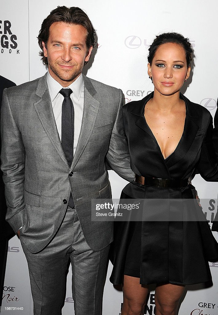 Bradley Cooper and Jennifer Lawrence arrives at the 'Silver Linings Playbook' - Los Angeles Special Screening at the Academy of Motion Picture Arts and Sciences on November 19, 2012 in Beverly Hills, California.
