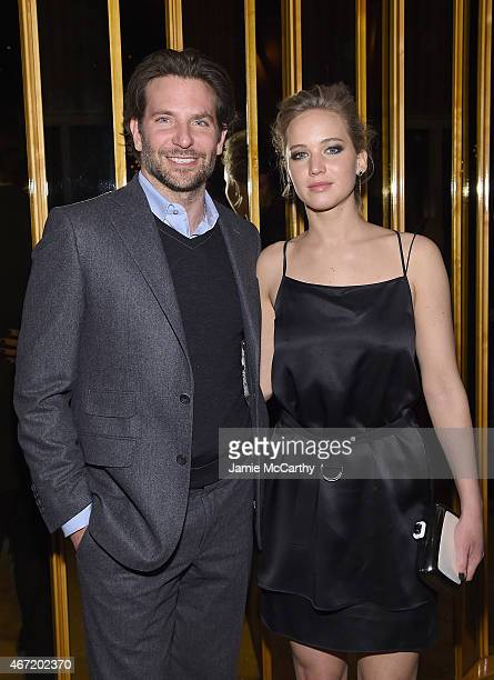 Bradley Cooper and Jennifer Lawrence attend the after party of a screening of 'Serena' hosted by Magnolia Pictures And The Cinema Society With Dior...