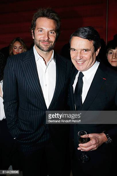 Bradley Cooper and Marc Menesguen attend the L'Oreal Red Obsession Party as part of the Paris Fashion Week Womenswear Fall/Winter 2016/2017 on March...