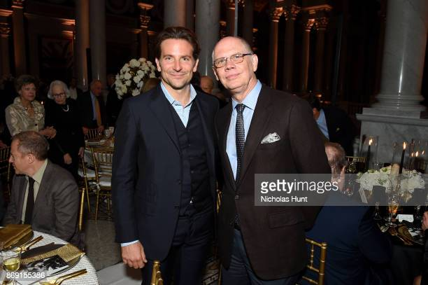 Bradley Cooper and Senior Editor of Washington Magazine Kevin Chaffee attend the AFI 50th Anniversary Gala at The Library of Congress on November 1...
