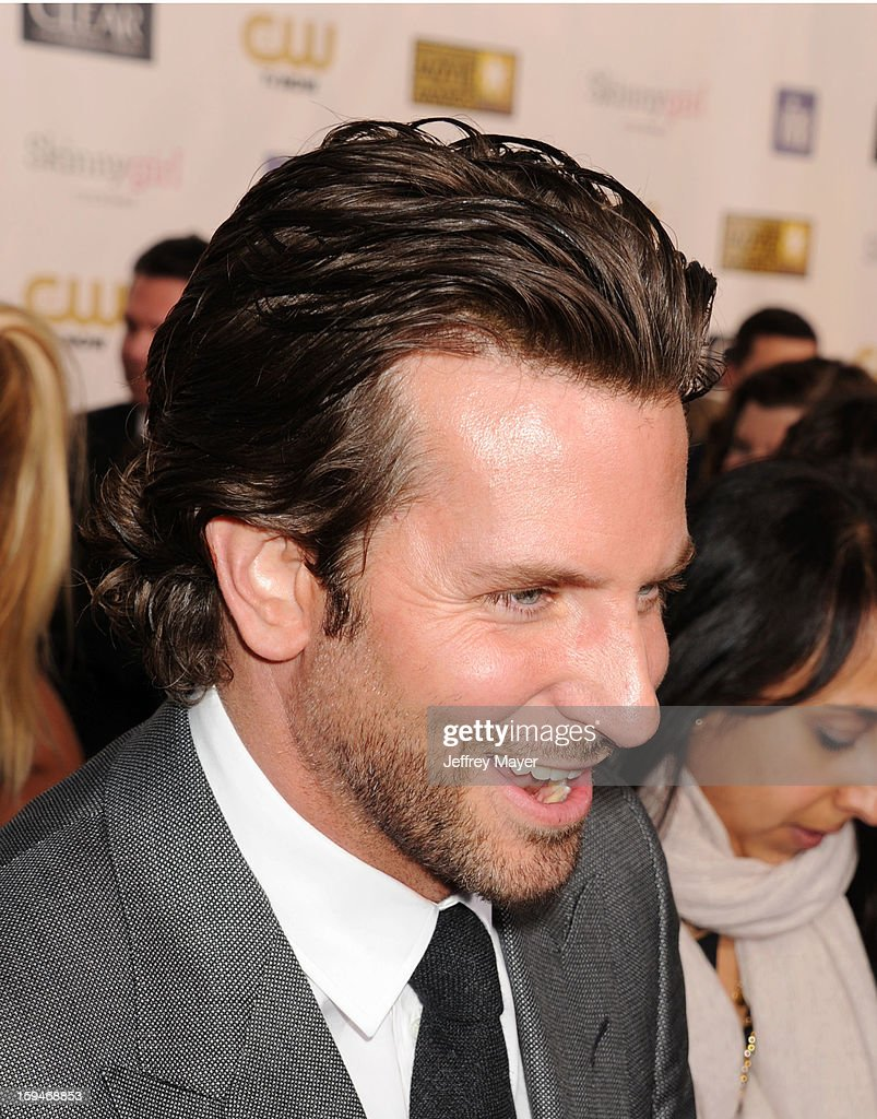 Bradley Cooper arrives at the 18th Annual Critics' Choice Movie Awards at The Barker Hanger on January 10, 2013 in Santa Monica, California.
