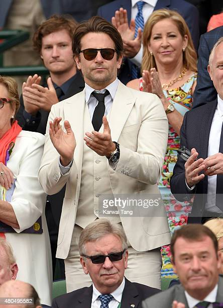 Bradley Cooper attends day 13 of the Wimbledon Tennis Championships at Wimbledon on July 12 2015 in London England