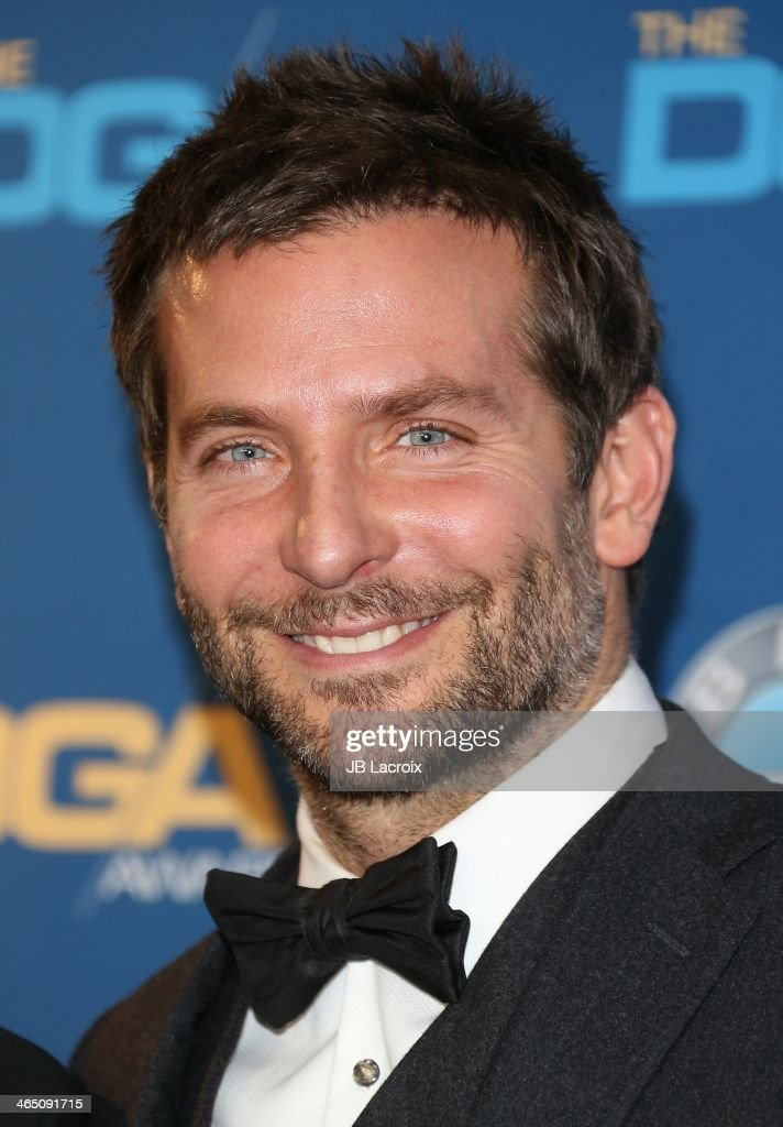 <a gi-track='captionPersonalityLinkClicked' href=/galleries/search?phrase=Bradley+Cooper&family=editorial&specificpeople=680224 ng-click='$event.stopPropagation()'>Bradley Cooper</a> attends the 66th Annual Directors Guild Of America Awards - Press Room held at the Hyatt Regency Century Plaza on January 25, 2014 in Century City, California.