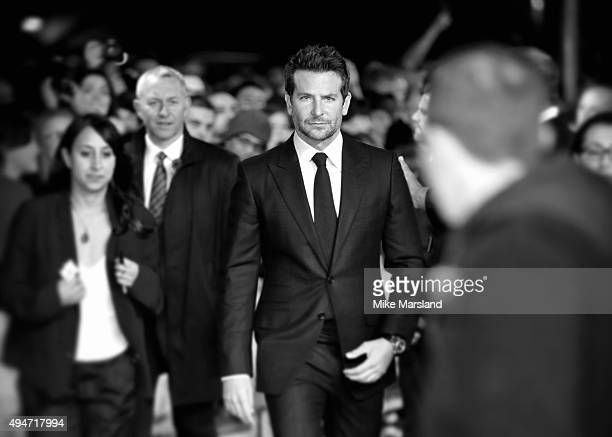 Bradley Cooper attends the 'Burnt' European premiere at the Vue West End on October 28 2015 in London England