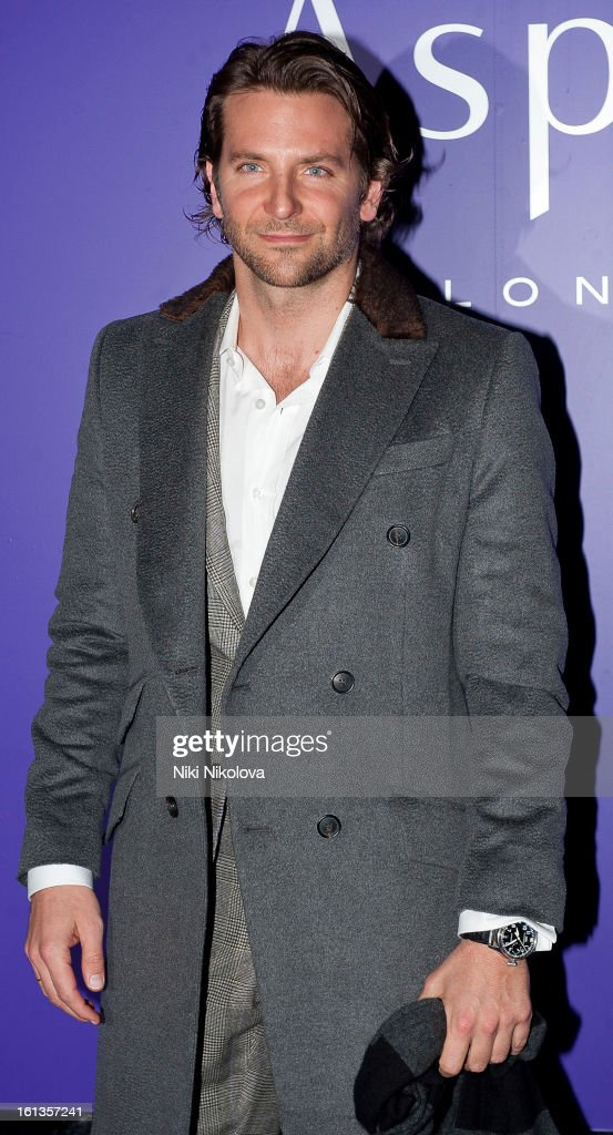 <a gi-track='captionPersonalityLinkClicked' href=/galleries/search?phrase=Bradley+Cooper&family=editorial&specificpeople=680224 ng-click='$event.stopPropagation()'>Bradley Cooper</a> attends The EE British Academy Film Awards Nominees Party at Asprey on February 9, 2013 in London, England.