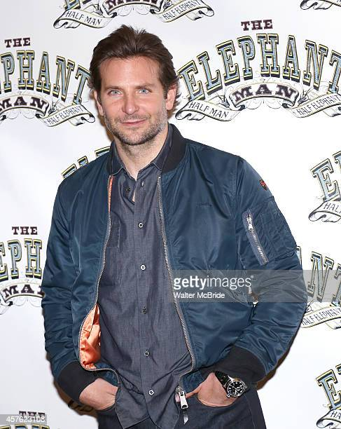 Bradley Cooper attends 'The Elephant Man' Broadway cast photo call at Sardi's on October 21 2014 in New York City