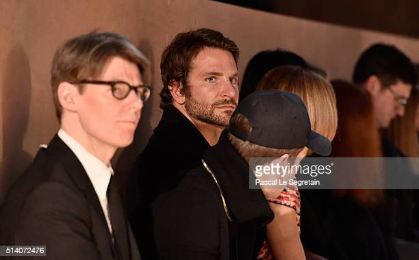 Bradley Cooper attends the Givenchy show as part of the Paris Fashion Week Womenswear Fall/Winter 2016/2017 on March 6 2016 in Paris France
