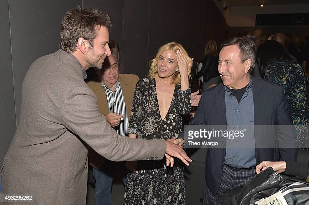 Bradley Cooper Lee Schrager Sienna Miller and Daniel Boulud attend the Private Screening Of BURNT QA Panel And Reception With Bradley Cooper And...